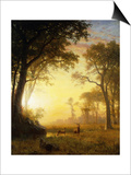 Light in the Forest Posters by Albert Bierstadt