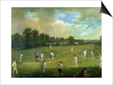Cricket as Played in the Mary-Le-Bone Fields, c.1744 Posters by Francis Hayman