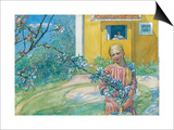 Girl with Apple Blossom, 1914 Posters by Carl Larsson