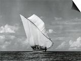 An Arab Dhow, Old Mombasa Harbour, Kenya, 5th April 1952 Posters by Charles Trotter