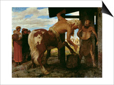 Centaur at the Village Blacksmith's Shop, 1888 Prints by Arnold Bocklin