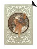 Tetes Byzantines: Blonde, 1897 Prints by Alphonse Mucha