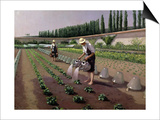 The Gardeners Print by Gustave Caillebotte