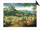 Haymaking, Possibly the Months of June and July, 1565 Prints by Pieter Bruegel the Elder