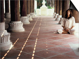 Woman Meditating Posters