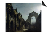 Ruins of Holyrood Chapel Prints by Louis Jacques Mande Daguerre