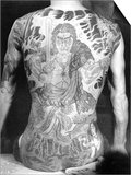 Man with Traditional Japanese Irezumi Tattoo, c.1910 Poster by  Japanese Photographer