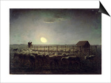 The Sheepfold, Moonlight, 1856-60 Posters by Jean-François Millet