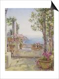 An Italian Balcony Posters by Ernest Arthur Rowe