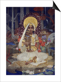 Devaki, Mother of Krishna Prints by Marianne Stokes
