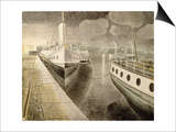 Paddle Steamers at Night Posters by Eric Ravilious