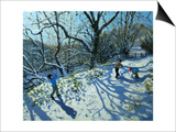 Snowball Fight, Derbyshire Prints by Andrew Macara