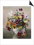 A Still Life with Pansies Prints by Albert Williams