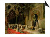 Interior of the Mosque at Cordoba, C.1880 Prints by Edwin Lord Weeks