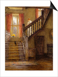 The Staircase, Whittington Court, Gloucestershire Prints by Helen Allingham