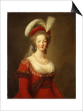 Portrait of Marie Antoinette, Queen of France Posters by Elisabeth Louise Vigee-LeBrun