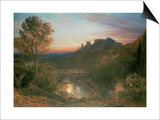The City at Sunset Poster by Samuel Palmer