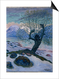 March Morning, Spring Night and Willow Posters by Nikolai Astrup