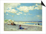 Long Beach Print by Edward Henry Potthast