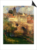 A Village in East Linton, Haddington Prints by James Paterson