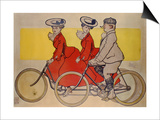 Man on a Bicycle and Women on a Tandem, 1905 Posters by René Vincent