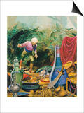 Ali Baba and the Forty Thieves Print by Don Lawrence