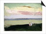 Coastal Scene at Sunset Art by Robert Henri