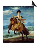 Prince Balthasar Carlos on Horseback, circa 1635-36 Kunst van Diego Velázquez