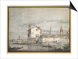 An Island in the Lagoon Prints by  Canaletto
