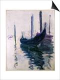 Gondolas in Venice, 1908 Prints by Claude Monet