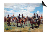Soldiers on Horseback Poster by Jean-Louis Ernest Meissonier