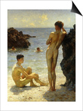 Lovers of the Sun, 1923 Print by Henry Scott Tuke