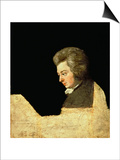 Portrait of Wolfgang Amadeus Mozart (1756-91) at the Piano, 1789 Posters by Joseph Lange