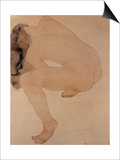 Seated Nude Bending over Prints by Auguste Rodin