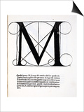 M, Illustration from 'Divina Proportione' by Luca Pacioli (C.1445-1517), Originally Pub. Venice, Art by  Leonardo da Vinci