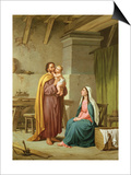 The Holy Family in St Joseph's Workshop Prints by Pietro Pezzati