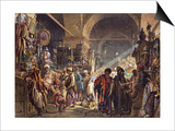 A Turkish Bazaar, 1867 Prints by Amadeo Preziosi