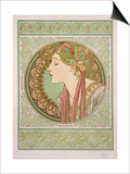 Laurel, 1901 Prints by Alphonse Mucha