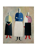 Three Little Girls, 1928-32 Prints by Kasimir Malevich