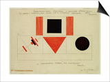 Design for the Speaker's Rostrum, 1919 Prints by Kasimir Malevich