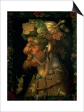 Autumn, from a Series Depicting the Four Seasons, Commissioned by Emperor Maximilian II Plakater af Giuseppe Arcimboldo