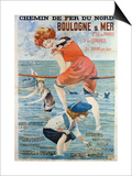 Poster Advertising the Seaside Resort of Boulogne Sur Mer, 1905 Prints by Henri Gray