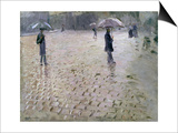 Study for a Paris Street, Rainy Day, 1877 Poster by Gustave Caillebotte