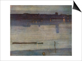 Nocturne in Blue and Green Prints by James Abbott McNeill Whistler