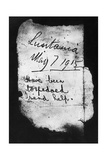 Note in Bottle after Lusitania Disaster Giclee Print
