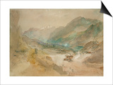 A View in Val D'Aosta Prints by J. M. W. Turner