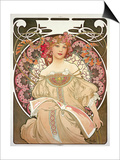 Reverie, 1897 Posters by Alphonse Mucha