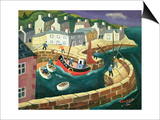 PZ.54. in Mousehole Harbour, Cornwall Prints by William Cooper