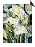 Cubist Lilies, 2002 Print by Catherine Abel