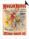Poster Advertising the Moulin Rouge, 1891 Art by Jose Belon